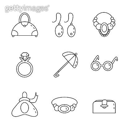 Accessory line icons set