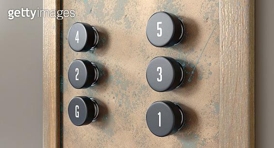 Retro Elevator Control Panel