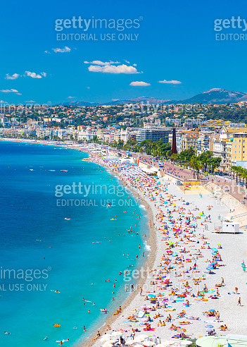 Promenade des Anglais in Nice (Nizza), France
