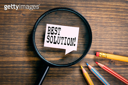 Best Solution.  Advice, guide, rules, crisis and service concept