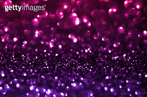 Purple Glitter Gradient Bokeh Lights Background Holiday Pattern Hot Pink Ultra Violet Circle Christmas Lights Sequin Dust Bubble Particle Luxury Texture Macro Photography