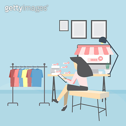 Online sellers entrepreneur open and home businesses a live store to sell clothing products online via the internet To make money and money for yourself Lead to the use of money to spend daily life Investment in other businesses