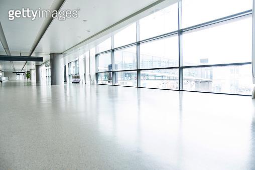Empty corridor in airport building