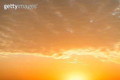 Golden sky at sunset