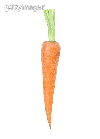 Carrot isolated on white background,single object studio shot.Vegetable.