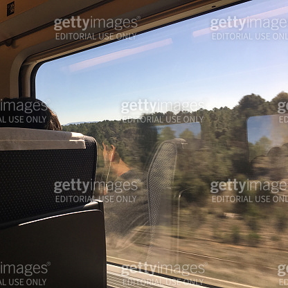 Landscape view from passenger train