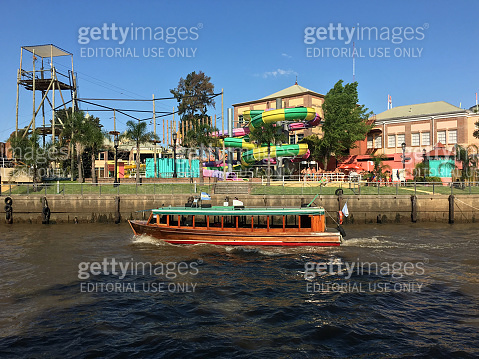 Wooden boat in Tigre district, Buenos Aires province, Argentina