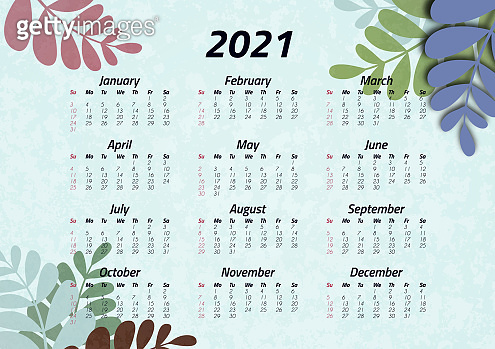 Creative art calendar 2021, 12 months. Bright design, flyer, brochure, advertisement. Vector