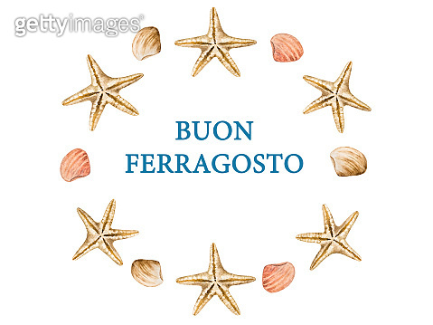 Beautiful card for Italian holiday. Top view