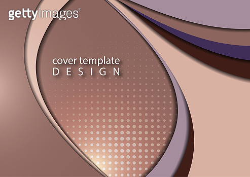 Abstract colorful background of shiny smooth wavy lines and curved shapes. Template for a business project.