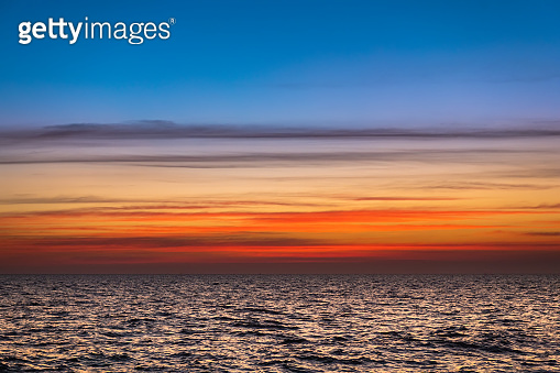 Lanscape of sunset sky and sea.