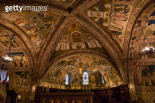 Ceiling Of Basilica Of St.Francis of Assisi- Italy