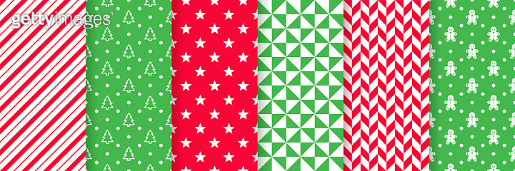 Christmas seamless pattern.  Vector illustration. Festive wrapping paper.