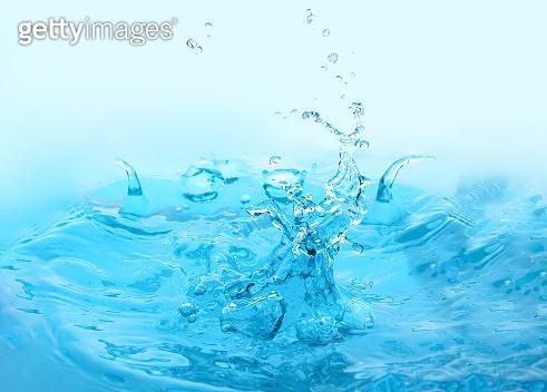 Splash of clean water, closeup