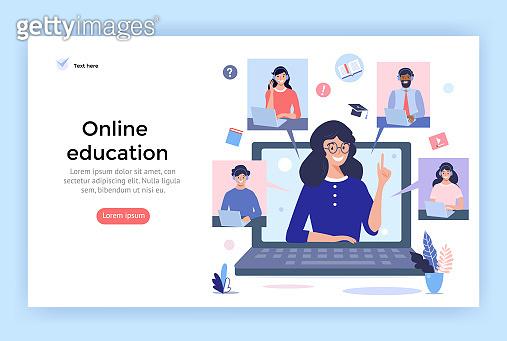 Online education concept illustration.