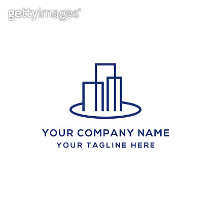 Company logo icon flat vector template design trendy