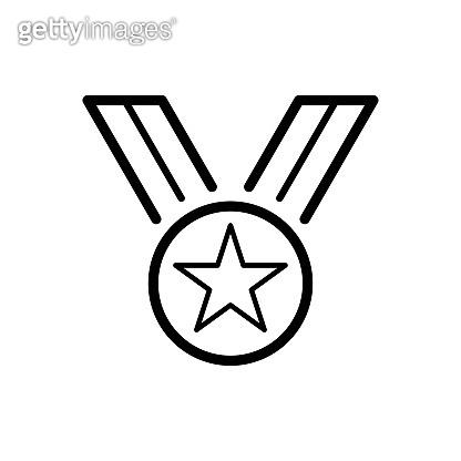 Medallion icon flat vector template design trendy
