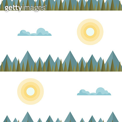 Seamless pattern with flat mountains.