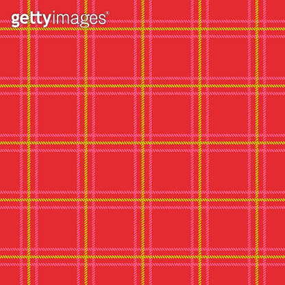 Traditional red and green Christmas plaid background seamless pattern.