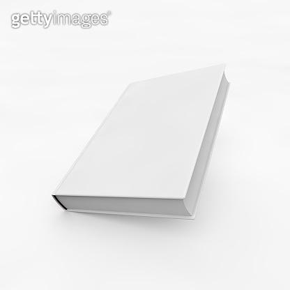 White empty book over white background