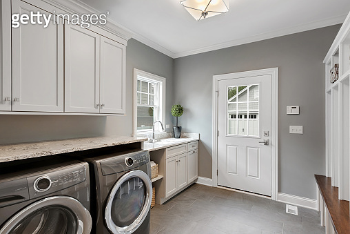 Perfect laundry room and mud room combination