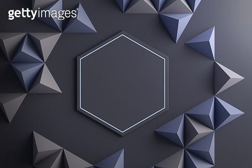 Close-up of geometric shapes abstract background 3d illustration