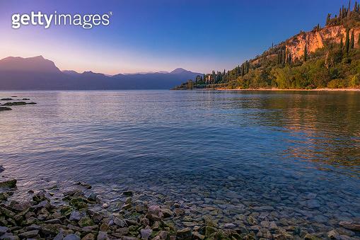 Lake Garda and Trentino Alpine landscape near Malcesine, Italy