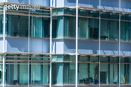 Windows. The glass facade of the building