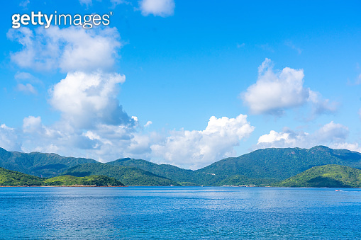 nature view from Sharp Peak in Sai Kung East Country Park in Hong Kong