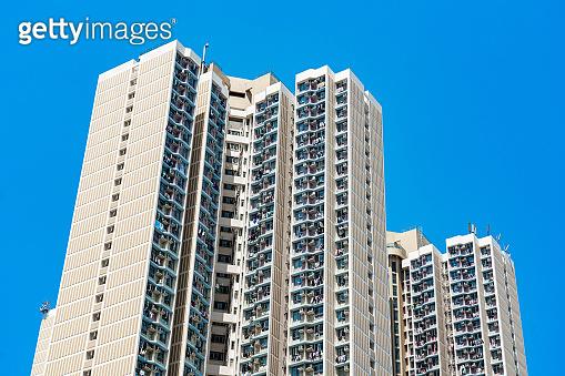 rivate housing of Tseung Kwan O, Hong Kong from drone view