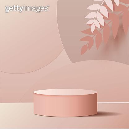 Abstract geometric mock up podium