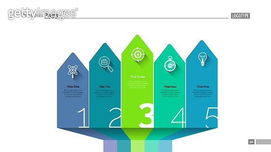 Arrow design infographics slide template