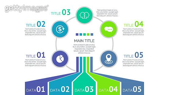 Five Process Elements Slide Template