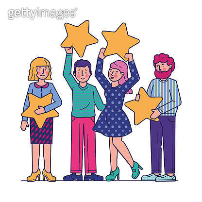 Customer review evaluation flat vector illustration