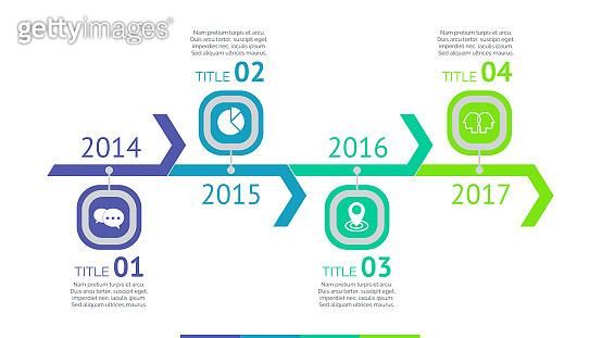 Four Arrows Timeline Slide Template