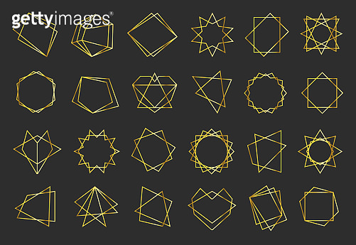 Golden geometric flat frames set