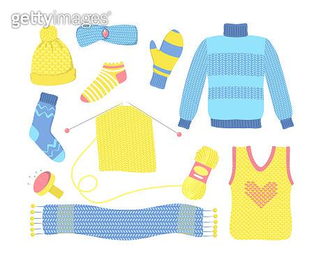 Knitted seasonal woolen clothes set