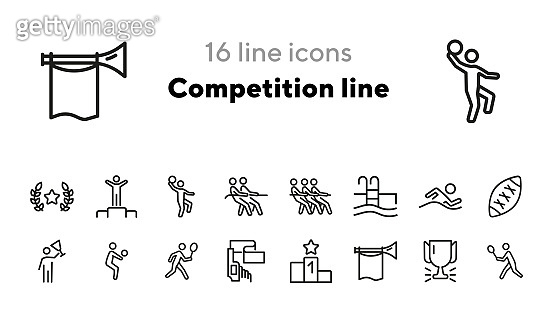 Competition line icons