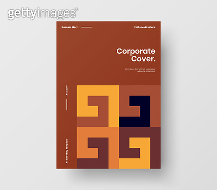 Amazing business presentation vector A4 vertical orientation front page mock up. Modern corporate report cover abstract geometric illustration design layout. Company identity brochure template.