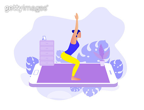 Home exercise classes.  Fitness and active lifestyle with online app.