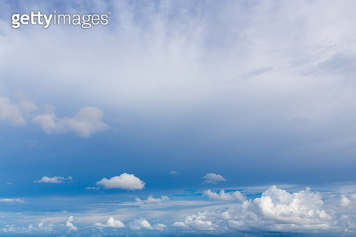 Cloud and blue sky, weather have a good day background.
