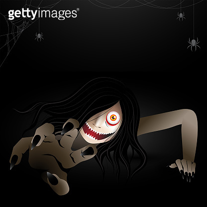 woman scary ghost