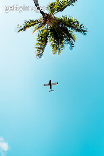 Private Plane Arriving in Florida on a Beautiful Summer Day