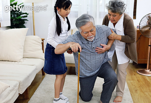 Elderly couple lover heart failure and have a kid girl niece to take care of the house.
