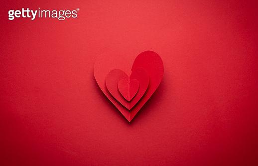 Romantic Valentine's day paper heart