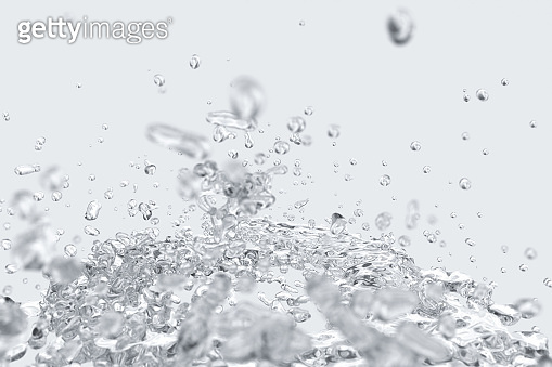 Splashing water with white background, 3d rendering.