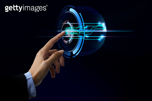 Finger touch screen digital, can add icons concept design - Touch the future, Interface technology