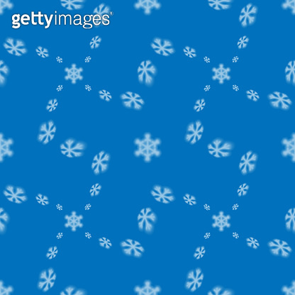 Christmas seamless snowflake pattern with blurred falling snow stars for Christmas cards, covers, wallpapers and tiled backgrounds