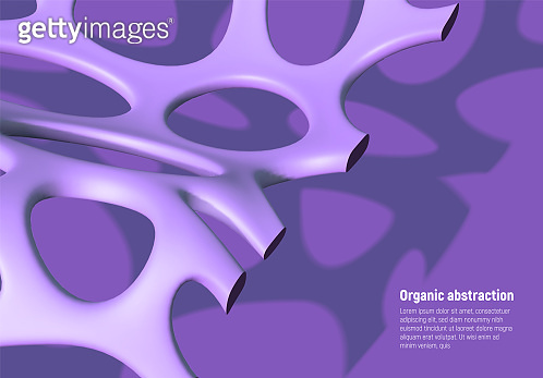 Artificial biologic fiber vector background with abstract violet mesh