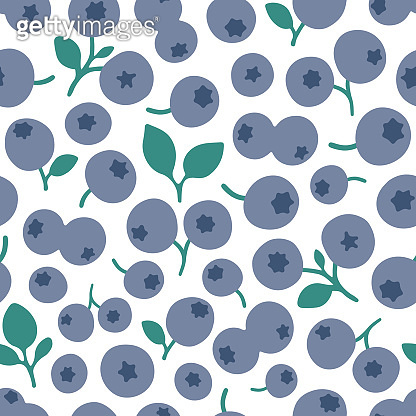 Blueberry seamless pattern